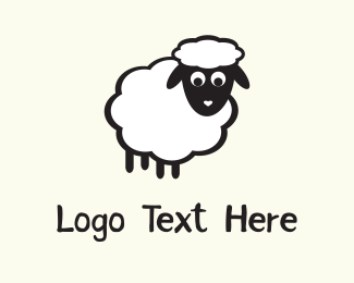 Sheep - White Sheep logo design