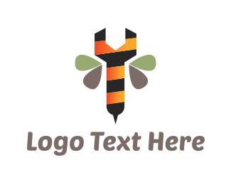 Hardware Store - Bee Wrench logo design