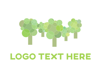 Root - Rounded Green Forest logo design
