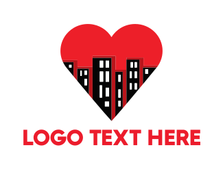 Buildings & Heart Logo