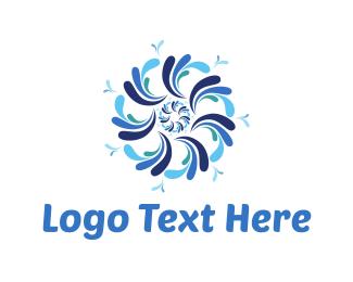 Wellness - Water Flower logo design