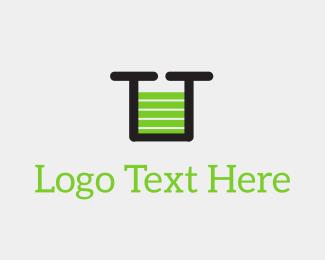 Letter U - Green U Battery Charge logo design