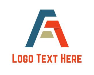 Sportswear - Ribbon Letter A logo design