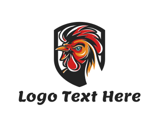 Rooster Head Logo Maker