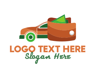Dollar - Wallet Car logo design
