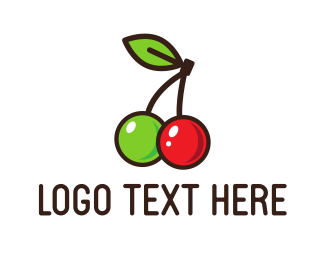 Healthy - Sweet Cherries logo design