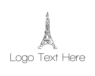 Europe - Eiffel Tower logo design