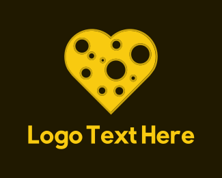 Cheese - Cheese Heart logo design