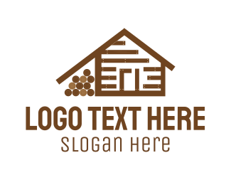 Lodge - Log Cabin logo design