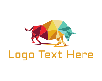 Cattle - Origami Bull logo design