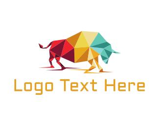 Farm - Origami Bull logo design