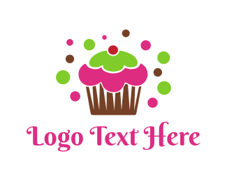 Bake - Colorful Cupcake logo design