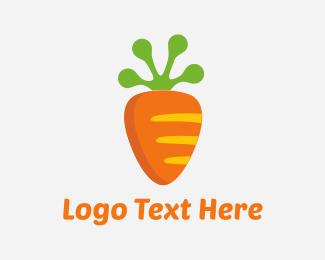 Rabbit - Carrot Frog logo design