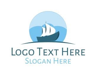 Yacht - Cloud  Ship logo design