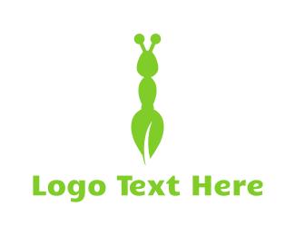 Ant - Green Eco Ant logo design