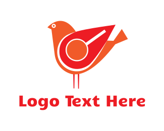 Search - Red Search Bird logo design
