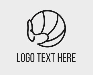 Armadillo - Black Armadillo logo design