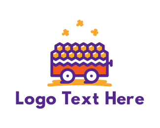 Honeybee - Honey Cart logo design