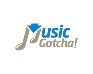 Musical Note - Music Download logo design
