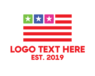 Veteran - USA Flag App logo design