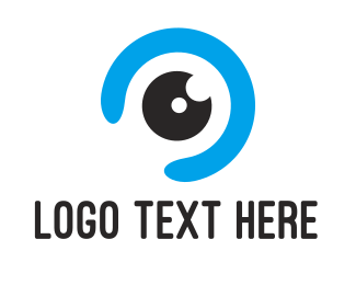 Optometrist - Blue Eye Ball logo design