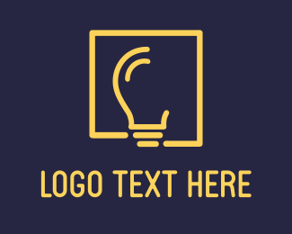 Lighting - Yellow Bulb logo design