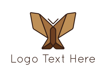 Freedom - Brown Butterfly logo design