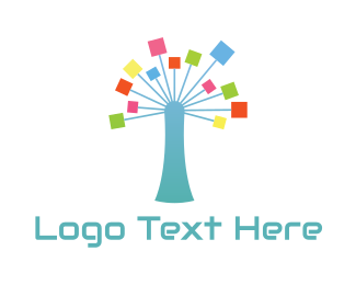 Neural Networks - Network Tree logo design
