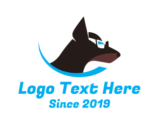 Cool - Dog Sunglasses logo design