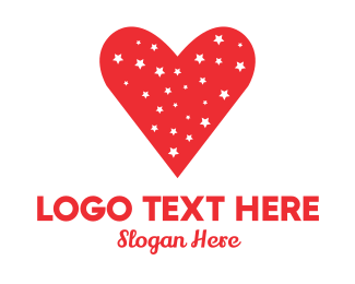 Love - Starry Heart logo design