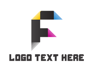 Letter F - Printing Letter F logo design