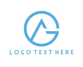 Brand - Blue G & A logo design