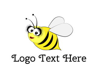 Honeybee - Cute Bee logo design