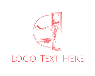 Interior Designer - Vintage Door Handle logo design