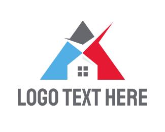 Verification - Triangle Check House logo design