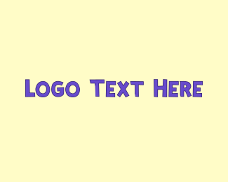Newborn - Purple Cute Text logo design