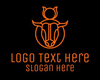 Zodiac - Black Bull logo design