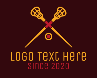 Varsity - Yellow Lacrosse logo design