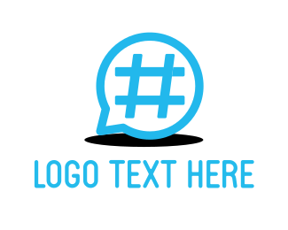 Hashtag - Hashtag & Chat logo design