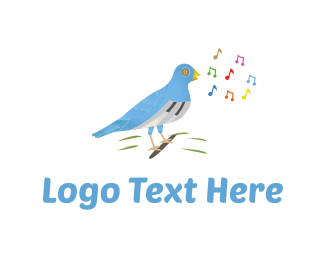 Karaoke - Musical Bird logo design