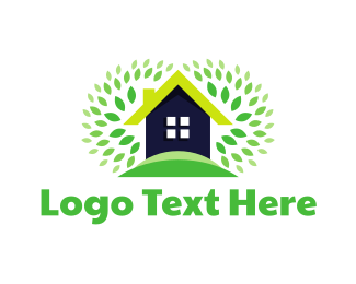 Real Estate - Ecology & Home logo design