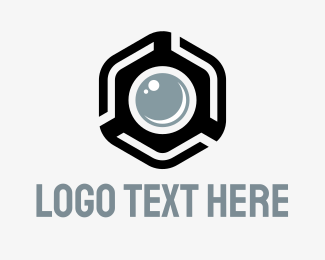 Shoot - Hexagon Photo logo design