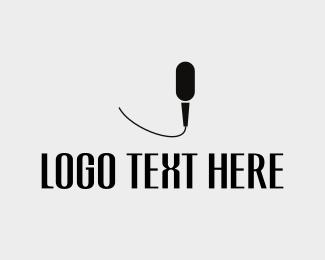Speech - Black Mic logo design