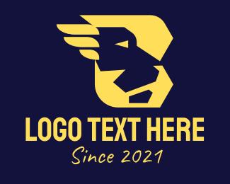 Running - Modern B Lion logo design