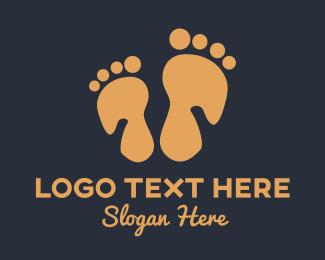 Footprint - Foot Massage logo design