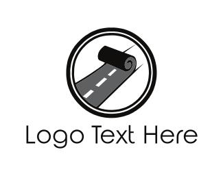 Route - Road Roll logo design
