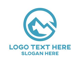 Cold - Glacier Peak  logo design