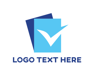Approved - Blue Check List logo design