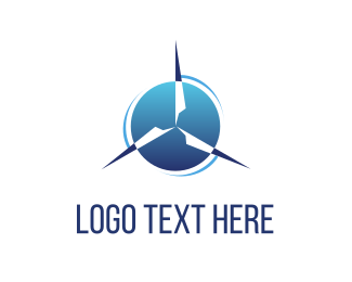 Turbine - Wind Power logo design