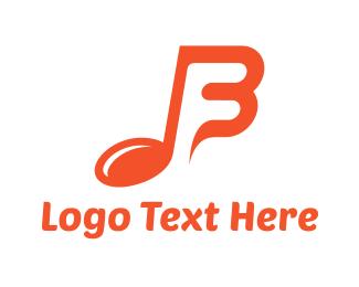 Composer - Musical B logo design